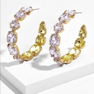 BaubleBar // Isadora Hoop Earrings In Lavender